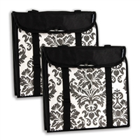 Travelon 22451-50-Qv00-0 Hanging Handbag Organizer Set Of 2 Black Damask