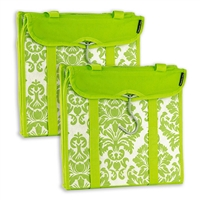 Travelon 22451-43-Qv00-0 Hanging Handbag Organizer Set Of 2 Lime Damask