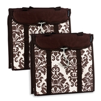 Travelon 22451-75-Qv00-0 Hanging Handbag Organizer Set Of 2 Chocolate Damask