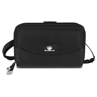 Travelon 82871-500 Safeid Accent Double Zip Clutch Wallet Black
