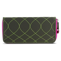 Travelon 22996-420 Safeid Hack-Proof Embroidered Ladies Rfid Wallet Olive/Berry