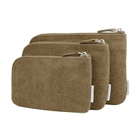 Travelon 33087-700-Oatmeal Anti-Theft Heritage Set Of 3 Rfid Blocking Pouches