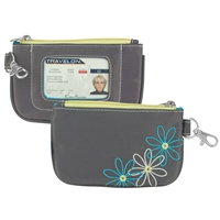 Travelon 23136-540-0060-01 Rfid Blocking Daisy Zip Id Pouch Pewter