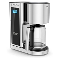 Russell Hobbs Cm8100Bkr Glass 8 Cup Coffeemaker In Black And Stainless Steel