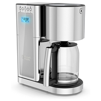 Russell Hobbs Cm8100Gyr Glass 8 Cup Coffeemaker In Silver And Stainless Steel
