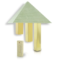 Angelo Brothers 76505 Artworks Home Dcor Wireless Pyramid Door Chime