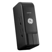 Ge Lighting 13456 Travel Surge Protector 3 Outlets And 2 Usb Ports