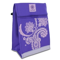 Gaiam Ppl Psy Insulated Food Travel Lunch Bag Tote Leak-Resistant Purple