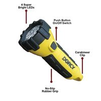 Dorcy 41-2510 3Aa Led Floating Flashlight Carabiner Yellow