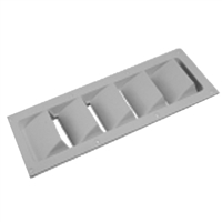 Sea-Dog Line 337290 Abs 5 Slot Ventilator White