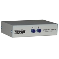 Tripp Lite Pro Av B112-002-R 2-Port Vga/Svga Video Switch Manual Push Metal