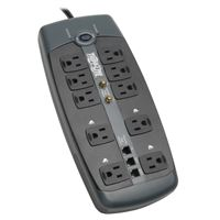 TRIPP LITE DATA CENTER TLP1008TELTV Protect It! 10-Outlet Surge Protector 8-ft.