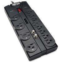 TRIPP LITE DATA CENTER TLP1208TELTV Surge Protector 12 Outlet 120V RJ11 Coax 8'