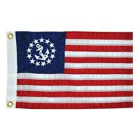 "Taylor Made 8124 16"" X 24"" Deluxe Sewn Us Yacht Ensign Flag"