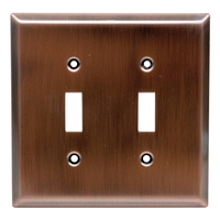 Ge Lighting 57383 Double Switch Wall Plate Copper Finish