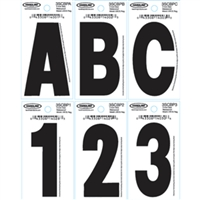 Hardline Products 3SCBPU 3In Black U Pkg. Of 10