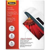 FELLOWES INC. 5223001 LAMINATING POUCH LETTER 11.5IN X 9IN LANDSCAPE 5MIL 100PK