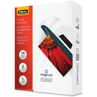 FELLOWES INC. 5204007 GLOSSY POUCHES -IMAGELAST LETTER 5MIL 150 PACK
