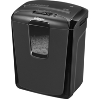 Fellowes 4605801 Powershred 49C Cross Cut 8-Sheet 5/32X2In Basket Black