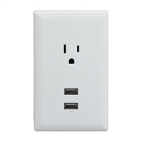 Rca Wp2Uwr Dual Usb Single Power Outlet Wall Adapter Plate