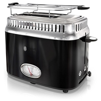 Russell Hobbs Tr9150Bkr Retro Style 2 Slice Toaster In Black