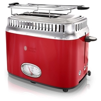 Russell Hobbs Tr9150Rdr Retro Style 2 Slice Toaster In Red