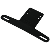 Wesbar 003211 License Plate Bracket Plastic Black