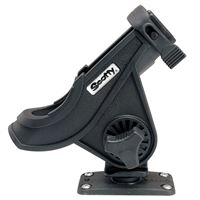 Scotty 281-Bk 281 Bait Caster/Spinning Rod Holder 244 Flush Deck Mount Black