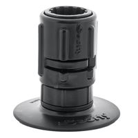 "Scotty 0448-Bk Stick On Accessory Mount C/W 0437 Gear Head 3"" Black"
