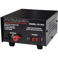 Pyle Ps3Kx 2.5Amp Pwr Supply Input:115V Ac 60Hz 50 Watts Output: 13.8V Dc