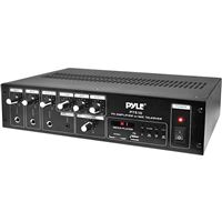 Pyle Pt510 240W Pa Pwr Amp 70V Output And Mic Talkover Usb/Sd Card