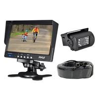 Pyle Plcmtr71 Weatherproof Rearview Backup Cam Syst 7In Lcd Color Mntr