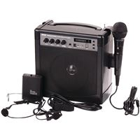 Pyle Pwma220Bm Portable Karaoke Pa Amp-Mic Sys Bt Wl Streaming 3 Mics Included