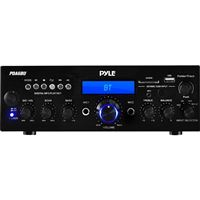 Pyle Audio Pda6Bu Bt Stereo Amp Receiver 200W Fm/Usb/Sd/Aux In/Disp/ Mic Inputs