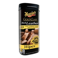 Meguiar'S G10900 Gold Class Rich Leather Cleaner And Conditioner Wipes