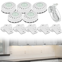Utilitech Xpv50Hcl Brilliant Xenon Direct-It Under Cabinet Puck Lights 5-Pack