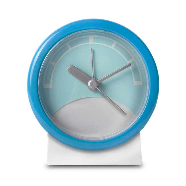 10341 Stand Up Analog Alarm Clock Blue/White