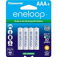 "Panasonic Bk-4Mcca4Ba Eneloop ""Aaa"" Rechargable Batteries 4-Pack"
