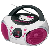Hello Kitty Kt2026Mby Portable Stereo Cd Boombox Am/Fm Radio Speaker
