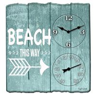 Taylorr Precision Products 92685T 14X14 Beach This Way Clck