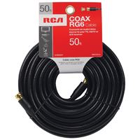 Voxx Vhb655R Rca Rg6 Digital Coaxial Cable 50Ft Black