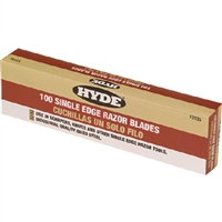 Hyde Tools 13135 Single Edge Razor Blades 100Pk
