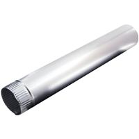 "Deflecto Dp244 4""X24"" Alum Pipe"