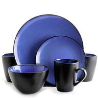 Gibson Elite 94826.16 Soho Lounge Round 16-Piece Dinnerware Set Blue