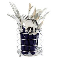 Gibson 53528.16 Sensations Ii 16 Piece Stainless Steel Flatware Set Cobalt