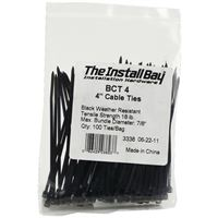 Install Bayr Bct4 Cable Ties 4In 18Lb