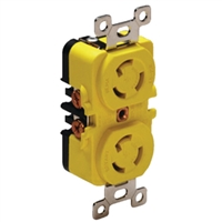 Marinco_Guest_AFI_Nicro_BEP 4700CR Duplex Receptacle 15A/Yellow