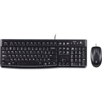 Logitech 920-002565 Keyboard And Mouse Desktop Mk120 Wired USB Retail