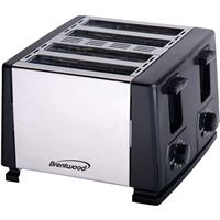 Brentwoodr Appliances Ts-284 4 Slice Toaster Blk