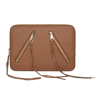 Incipio Qf6-00266 Rebecca Minkoff Moto 13 Sleeve Almond Pebble Leather